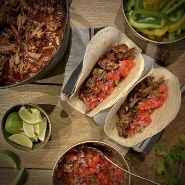 pulled beef taco